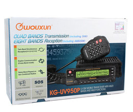Wholesale Icom Vhf Dual - 2 PCS Walkie Talkie Wouxun Mobile Radio KG-UV950p Dual Band Vhf&uhf Car Transceiver Two Way Vehicle radio motorola icom kenwood Quanlity