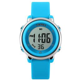Wholesale Child Digital Watch Waterproof - SKMEI New Fashion Sports Children Watches Waterproof Alarm Watch Kids Back Light Calendar Digital Wristwatches Relogio Infantil for Kids