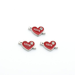 Wholesale Memory Life - Floating Charm, Cupid's arrows, fashion charm, life and memory, heart - Shaped Pendant