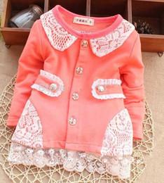Wholesale Children Autum Clothes - new Baby girls autumn outerwear Autumn baby girls long sleeve clothes Baby girls Cotton outerwear Autum children Outerwear