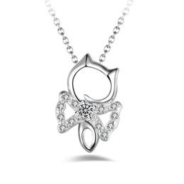Argentina Envío gratis moda de alta calidad 925 de plata ojo de gato joyas de diamantes blancos 925 collar de plata regalos de vacaciones del día de San Valentín caliente 1689 cheap cat eye white necklace silver Suministro
