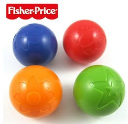 Wholesale Colorful Plastic Christmas Balls - Fisher Price Infant Boys Girls Plastic Hand Grab Ball Kids Baby Colorful Development Bouncy Ball High Quality Europe Children Toys H2465