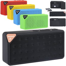 Wholesale Tablet Speaker Amplifier - Mini Portable Bluetooth Wireless Boombox Stereo Speaker Subwoofers Amplifier For Samsung iPhone Tablet PC 5 colors
