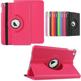 Wholesale Ipad Rotating Pink Case - 360 Degrees Rotating Rotary Magnetic Smart Cover Seep Wake UP PU Leather Stand Case for 9.7 inch iPad 6 Air 2 iPad6 Air2 100pcs