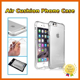 Wholesale Silver Cushions Covers - Air Cushion Soft TPU Gel Transparent Anti-shock Protective Phone Cover Case for iPhone 7 5 SE 6 6s Plus Samsung Note7