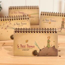 Wholesale Schedule Book - Wholesale- Vintage Stationery Retro Little Prince Spiral Notebook Notepad Planner Schedule Book Agenda Organizer School Office Supplies