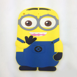 Wholesale Cases For Mini Tablet - 3D Cartoon Despicable Me Soft Silicone Skin tablet cover Case For Ipad 2 3 4 5 air ipad mini Cute Minions Fashion Back Shell Best Qulality