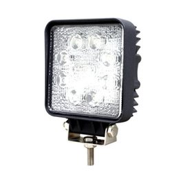 Wholesale Leds Lights For Trucks - 24W 8-LEDs LED Work Light Square OffRoad SUV ATV 4WD 4x4 Spot Beam IP67 12V 24V for Jeep Truck Driving drop shipping