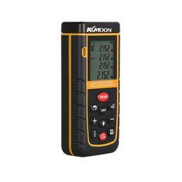 Wholesale Laser Level Meter - Wholesale-KKMOON Handheld 60m 196ft Digital Laser Distance Meter Range Finder Measure Distance Area Volume Self-calibration Level Bubble
