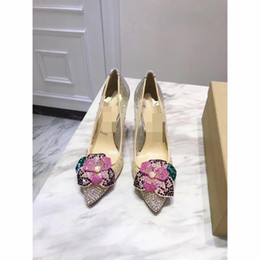 Wholesale Crystal Slip - 2018 Luxurious Brand Designer Wedding Bridal Shoes Sexy Party Shoes Pointed Toe High Quality Wedding Bridal Shoes Beading Crystal