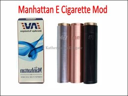 Wholesale Stainless Steel E Cigarette Battery - Manhattan Mechanical Mod Stainless Steel Red Copper Black Mod Body Mod for 18650 18350 E Cigarette Battery for Aspire Nautilus Atlantis Tank