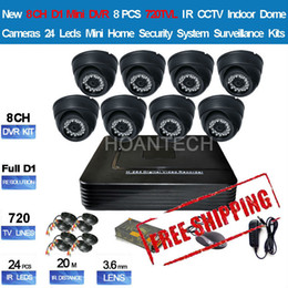Wholesale D1 H 264 8ch - 8CH D1 Mini H.264 DVR 1080P HDMI VGA Audio 8pcs 720TVL CCTV 20M IR Indoor Dome Camera Mini Home Security System Kit FreeShipping
