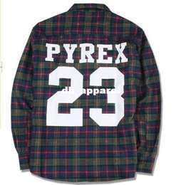 Wholesale California Shirts - PYREX 23 flannel shirt 2014 brand new california shirt style PYREX VISION Fashion loose men women fashion boy clothing Tee