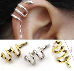 Wholesale Gothic Punk Ear Cuffs - Vintage earring jewelry Gothic Punk Snake Cartilage Ear Cuff Clip Wrap Earrings jewelry top quality