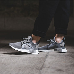 Wholesale New Designed Shoes - HOT SALE 2018 New Originals Boost NMD XR1 Primeknit Triple White Women Men Basketball Design Running Shoes Sneakers