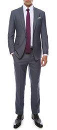 Mens grau silberne hochzeitsanzüge online-Milano Mens Grau Slim Fit Bräutigam Smoking 2016 Neue Groomsmen Mens Hochzeit Prom Anzüge Nach Maß (Jacke + Pants + Tie + Vest) Nach Maß