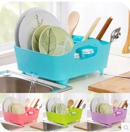 Wholesale Bamboo Floor Kitchen - Portable large kitchen cutlery Drain Drain rack storage rack kitchen shelf chopsticks dishes A230