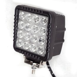 Wholesale High Power Car Leds - 3200LM 48W High Power Square Car Offroad LED Working Light Off Road LED Work Lamp with 16X 3W Bead LEDs for Truck Jeep ATV Boat