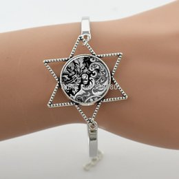 Wholesale White Black Geometry - Victorian Vintage Gothic Lolita bracelcet,glass cabochon dome black white bangle,zinc alloy geometry Steampunk style jewelryG074