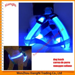 Wholesale Nylon Tracks - 2015 Fashion Colorful Led & Chest Suspenders Large Leash, Luminous Flash Night Outdoor Safety, For Dog All Seasons order<$18no track