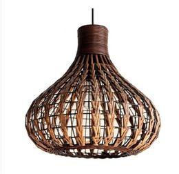 Wholesale Ul Housing - modern cany art chandelier Hand-woven hanging light tea house restaurant lighting lamps pendant light terns lifporch corridor study lamp