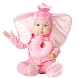 Adorável animal Halloween Outfit para o bebê crescer infantil Meninos Meninas bebê Fancy Dress Cosplay Macaco / Pink Elephant / Lion de