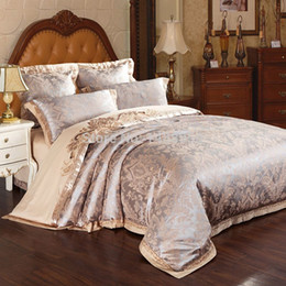 Wholesale Silver King Size Sheets - MFH Home textile Royal bedding sets cotton bed linen satin bedclothes king size sheets duvet covers christmas new year 4pcs.