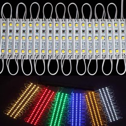 Wholesale Rohs Sign - SMD 5050 LED Modules Waterproof IP65 Led Modules DC12V SMD 3 Leds Sign Led Backlights For Channel Letters Warm Cool White Red Blue