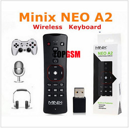 Wholesale Minix Tv Box Mouse - MINIX NEO A2 2.4G Wireless Voice Air Mouse Keyboard Remote Control for PC Notebook Smart TV Box X7 X8 Plus X8H Plus X5 X5 mini