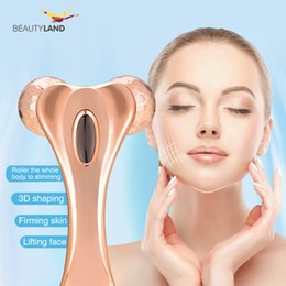 Wholesale V Solar - Waterproof solar 3d roller massager microcurrent 360° face massage V face lifting body shaping body shaping