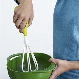 Wholesale Hand Blender Whisk - Handle PP Egg Whisk Kitchen Mixer Balloon Wire Milk Egg Beater Mixer Tool Kitchen Blender Baking Flour Stirrer LJJO3697