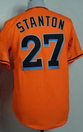 2018 jerseys de uniforme de béisbol Descuentos en 27 camisetas de béisbol STANTON, varios 21 YELICH Ropa de béisbol, descuento TOP 16 FERNANDEZ Baseball Uniform TOPS, ropa de entrenamiento jerseys de uniforme de béisbol baratos