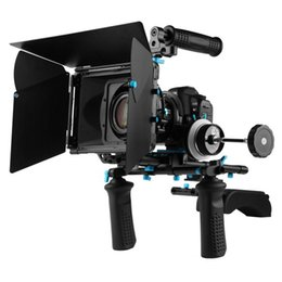 Wholesale Rig Follow Focus Kit - Fotga DSLR follow focus 15mm rod rail matte box handle shoulder support rig kits