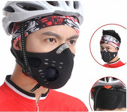 Wholesale Wolfbike Masks - WOLFBIKE Riding Cycling Masks Bicycle Wind-Proof Warm Gaby Pirates Mask Black Anti-Dust Motorcycle Mask Face Mask Cycling Equipment BE107