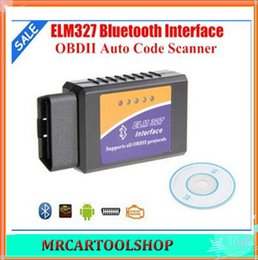 Wholesale Elm 327 Obd2 Eobd Can - Elm327 Bluetooth CAN bus OBD-II elm 327 OBD2 auto scanner Code Reader OBD2 EOBD CAN-BUS free shipping