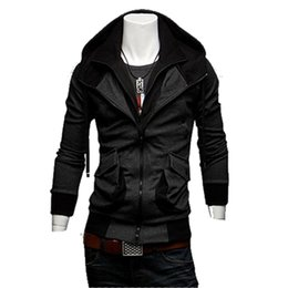 Wholesale Double Collar Hoodie Men - 2015 New arrival Free Shipping Fashion Men's hooded hoodies with double zipper and collar ; hot style men's new casual tops