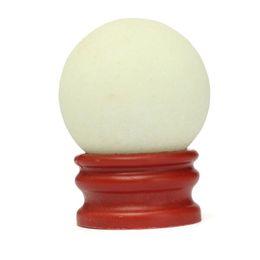 Wholesale White Glow Stones - Wholesale-New Arrival 1PC 35*35MM Glow In The Dark Stone Luminous Quartz Crystal Sphere Ball 100% Brand New White Marble Plastic Base
