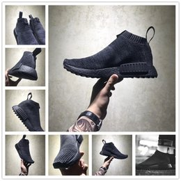 Wholesale Mens Socks For Winter - 2018 Hot Sale NMD CS1 Mens Running shoes for Original quality Fashion Black High City Sock shoes Casual Athletic Sneakers Size 40-45