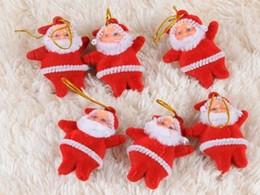 2019 acryl urlaub baum 1000pcs / lot geben Verschiffen Miniweihnachtsmann-Weihnachtsverzierungs-Dekoration-Versorgungsmaterial-Anhänger für Chrismas-Baum-Weihnachtsgeschenk frei