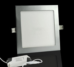 Wholesale Downlight Frame - 6W 9W 12W 15W 18W LED Recessed Ceiling Downlight AC 85-265V Warm white Cold white Bright 2835SMD Chip Lamparas New Silver Frame Dropshipping