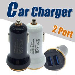 Wholesale Quick Usb - 5V 2A Dual Port Mini USB Car Charger Quick Charge Car-charger for iPhone 7 6 6s 5s 5 Samsung Xiaomi HTC Huawei