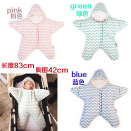 Wholesale Wholesale Cold Weather Clothes - Starfish quilted baby sleeping bags winter thicker section cotton baby sleeping bagInfant Baby Swaddling Sleep Bag Infant Cotton Wrap Bags