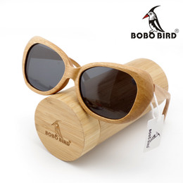 Wholesale BOBO BIRD AG003a Newest Wooden Polarized Sunglasses Designer Wooden Frames Eyeglasssun Gray Lens With Bamboo Portable Gift Box OEM
