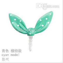 Wholesale Dust Plug Rabbit Ears - Wholesale-Fashion Cute rabbit ears Mobile dust plugs T7055