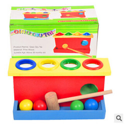 Wholesale Pounding Bench - Wooden Punch Ball Pounding Bench Hammer Hit Baby Children Preschool Educational Toy TOP646