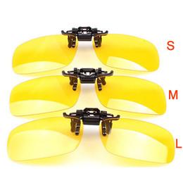 Wholesale Clip Sunglasses Mirror - Polarizer Clip Night Vision Goggles Glasses Clip Mirror Driving Sunglasses Driver Mirror Yellow Gray Sun Glasses SG024