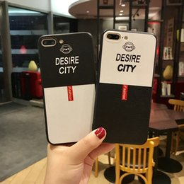 Wholesale Plastic Cover For Mobile - Iphone7 Mobile Phone Shell 8 6S Plus X Black Lower White Male Relief Cartoon Mobile Phone Protection Cover
