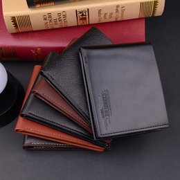 Wholesale Cheap Designer Travel Bags - New leather mens wallet purses short designer small fire leather clutch men bags travel wallet ultra thin cheap wallets wholesale purse