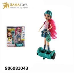 Wholesale Cool Car Electronics - Four-wheel drive remote control balance car 11.5 inch girl doll toys cool gifts rc hover board doll girl toys Free Shipping