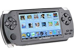 Wholesale Mp5 4gb - Real 4GB 4.3 Inch Large Screen MP5 Game Player+ 2500 games four colors to choose drop shipping